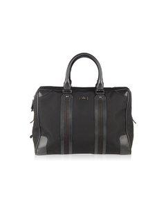 Gucci Black Canvas Soft Briefcase Travel Bag Overnight Bag