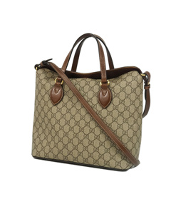 Gucci Gg Canvas Shoulder Bag Brown