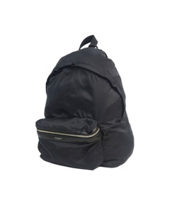 Ysl Nylon City Foldable Backpack Black