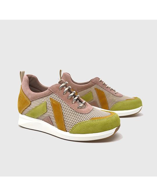 Hanks Hanks Sneakers Green And Pink