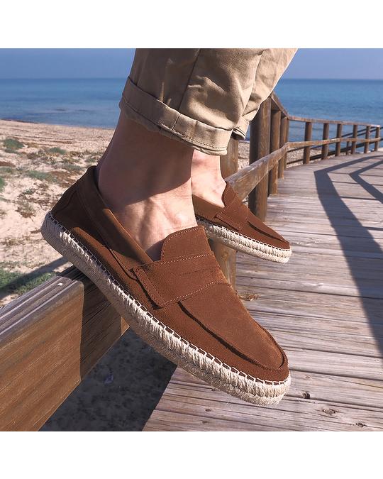 Hanks Daniel Suede Espadrilles Leather Brown