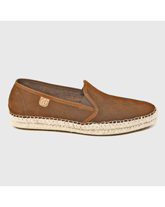 Grayson Suede Espadrilles Leather Brown