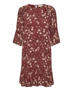Trilbyiw Short Dress Russet Brown Asian Floral