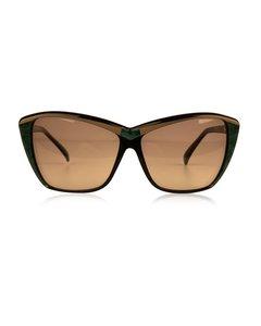 Yves Saint Laurent Vintage-Beige Acetate Sonnenbrille Mod: 8706 PO 73