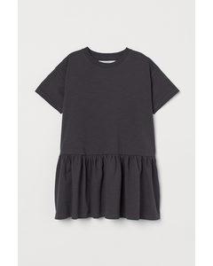 T-Shirt-Kleid Dunkelgrau