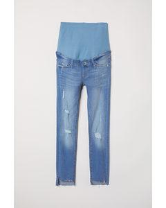 Mama Skinny Ankle Jeans Ljus Denimblå/trashed