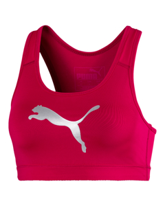 Puma 4keeps Bra Pm Bright Rose-metallic Silver Cat