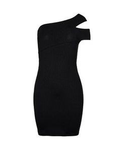 Cross Shoulder Dress Black