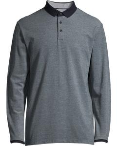 Men's Polo Shirt Long Sleeve, Navy