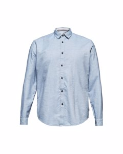 Men's Shirt Woven Long Sleeve, Light Blue