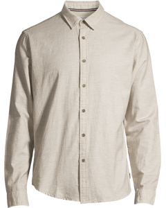 Men's Shirt Woven Long Sleeve, Grey