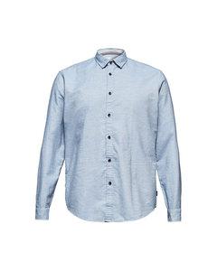 Men's Shirt Woven Long Sleeve, Light Blue