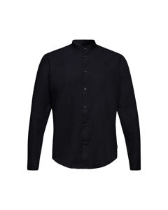 Men's Shirt Woven Long Sleeve, Black