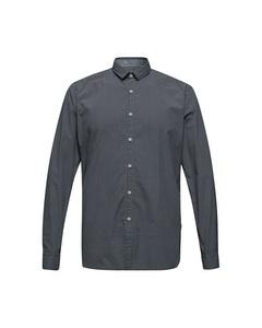 Men's Shirt Woven Long Sleeve, Navy