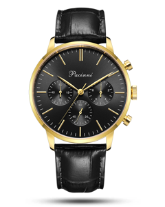 Pacinni Chronograph Black Gold