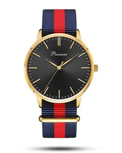 Pacinni Classic Black Gold - Nato Blue Red