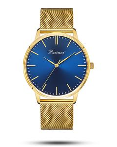 Pacinni Classic Blue Gold Mesh