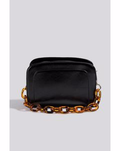 Big Chain Shoulder Bag  Gloss Black