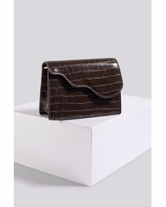 Mini Crossbody Bag Brown Croco
