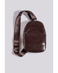 One Strap Sling Bag Brown Croco