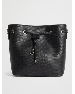 Snake Bucket Bag Black