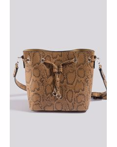 Snake Bucket Bag Beige