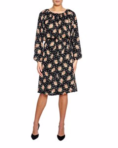 Whyred Dress Penny Blossomy Black
