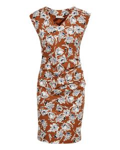 Kaflowy India V-neck Dress Ginger Bread
