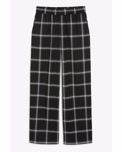 Wide Leg Trousers Black And White Checks