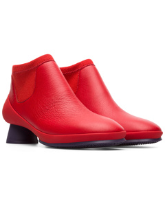 Alright Ankle Boots Red