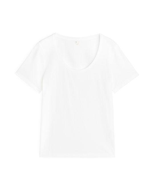 Arket Pima Cotton T-Shirt White