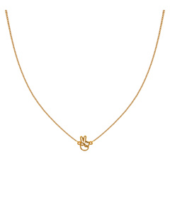Snap Necklace Peace Gold