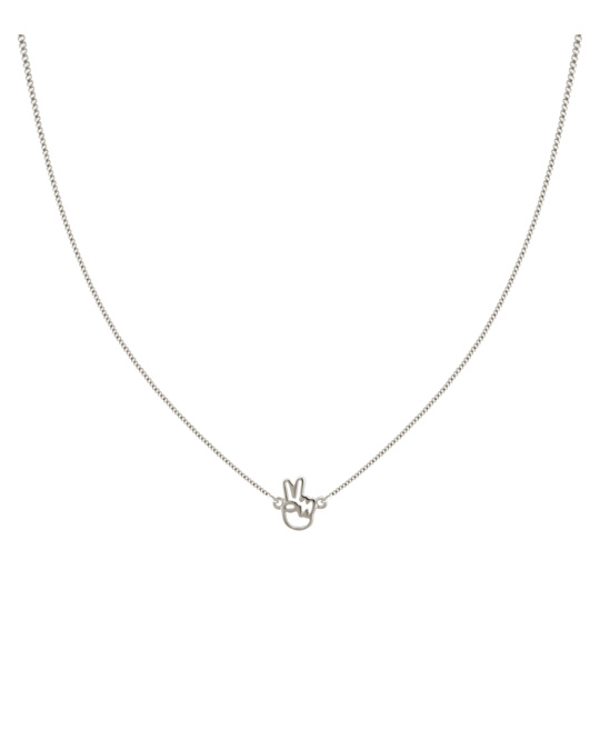 Syster P Snap Necklace Peace Silver