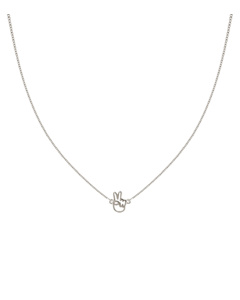 Snap Necklace Peace Silver