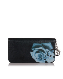 Dior Diorissimo Voyageur Leather Long Wallet Black