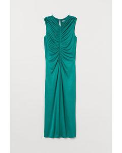 Kleid mit Drapierung Smaragdgrün