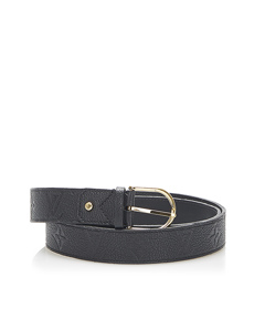 Louis Vuitton Monogram Empreinte Leather Belt Black