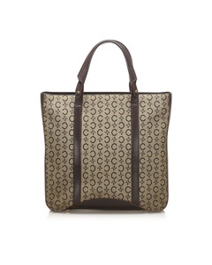 Celine C Macadam Canvas Tote Bag Brown