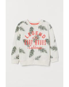 Sweatshirt Ljus Beigemelerad/palmblad