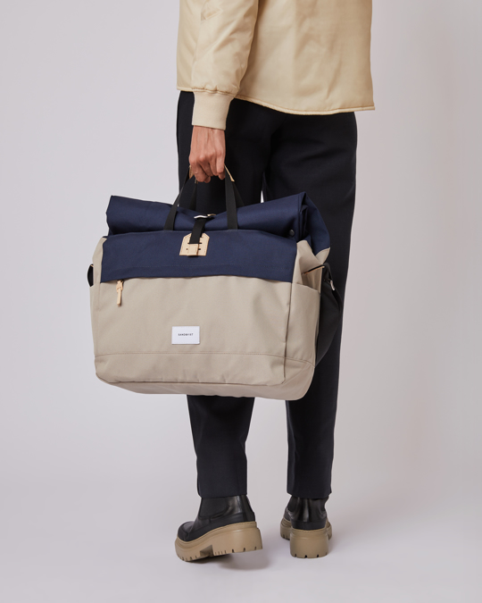 Sandqvist Tor With Natural Leather, Multi Beige/blue