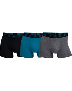 Cr7 Basic Trunk, 3-pack Black/blue/melange