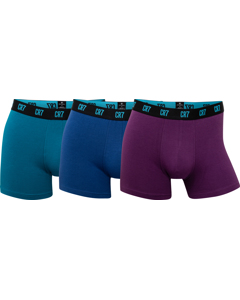 Cr7 Basic Trunk, 3-pack Green/blue/purple