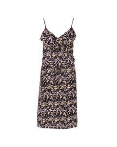 Woven Dress Below Knee Black
