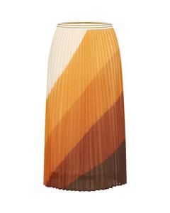 Woven Skirt Under Knee Orange Ochre