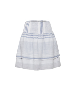 Woven Skirt Above Knee C.blue(s)