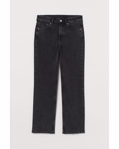 Straight High Ankle Jeans Svart/washed Out