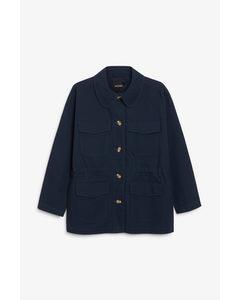 Utility Style Jacket Dark Blue