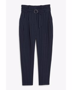 Pinstriped Trousers Blue