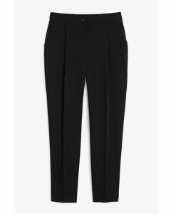 Tailored Tapered Trousers Black Magic