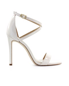 Michael Kors Antonia Light Cream Patent Leather Sandal